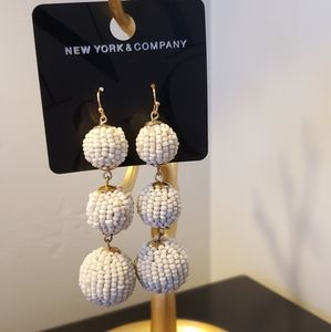 New York &Company Ivory Earrings